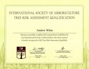 TRAQ - Tree Risk Assessment Qualification - Andy White